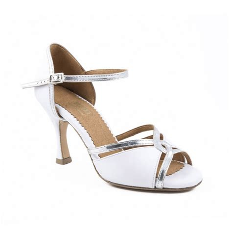 Silver Bridal Heels by Comfortable Heels For Brides In Silver And White Leather