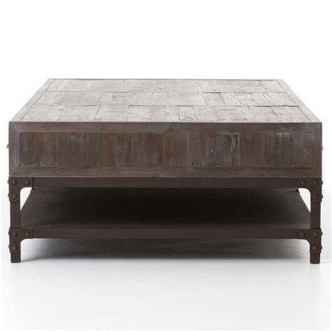 Iron Drawer by Hemlock Rustic Lodge Reclaimed Wood Iron Three Drawer