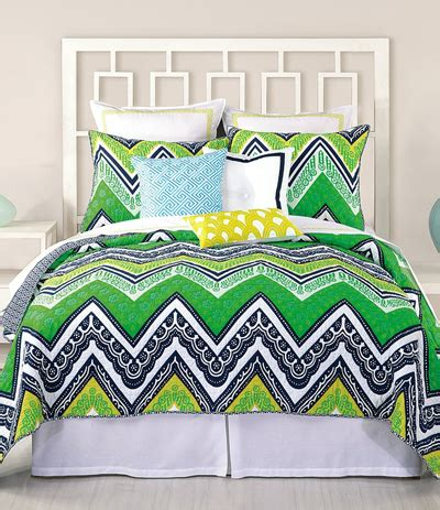 green bedding decor by color