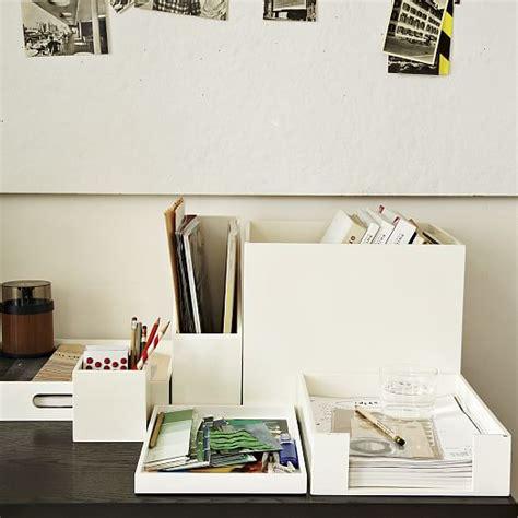 Lacquer Office Accessories West Elm White Lacquer Desk Accessories