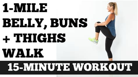 walk at home low impact length workout 1 mile belly