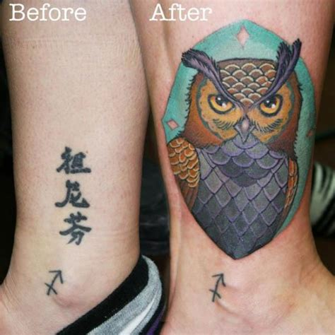 thigh cover up tattoos owl leg wallpaper