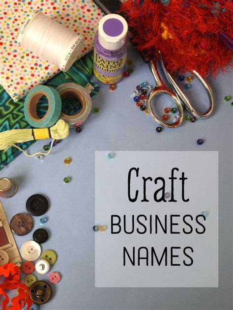 Handmade Shop Names - 50 creative craft business names toughnickel