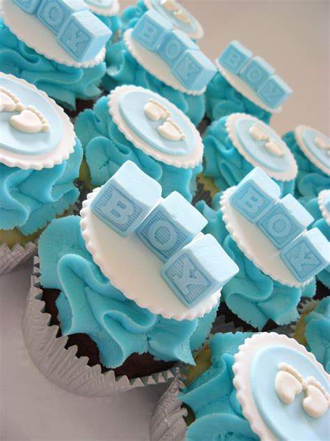 Boy Baby Shower Cup Cakes by Baby Showers The Cup Cake Taste Brisbane Cupcakes