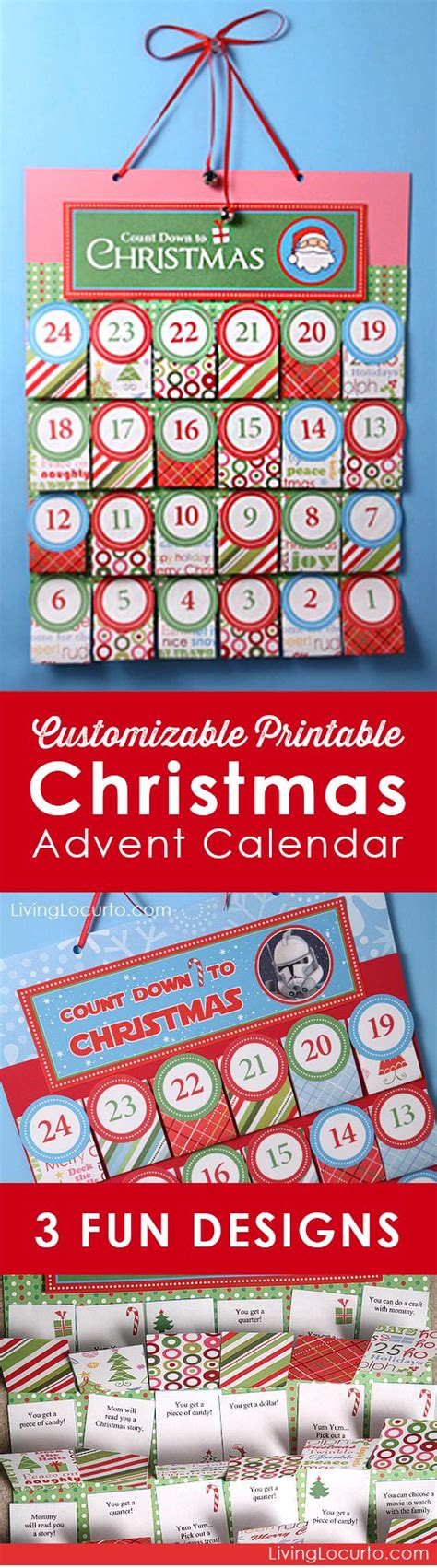 printable paper advent calendar personalized free printable christmas advent calendar