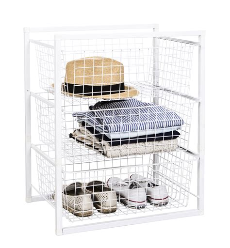 wire basket drawer unit 3 tier from storage box