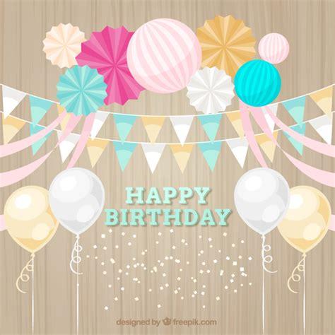 imagenes happy birthday gratis mooie verjaardag decoratie met ballonnen en gorzen vector