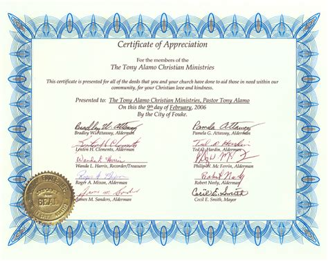 church certificate of appreciation bing images