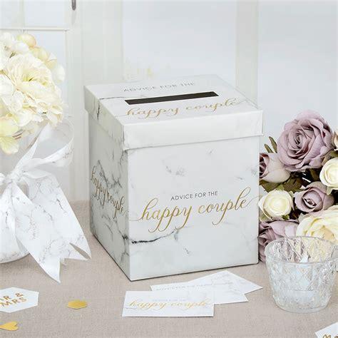 Hochzeit Shop by Geschenke Box Brief Box Marmor Weddix De