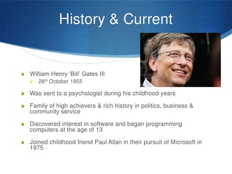 ppt on biography of bill gates bill gates presentation