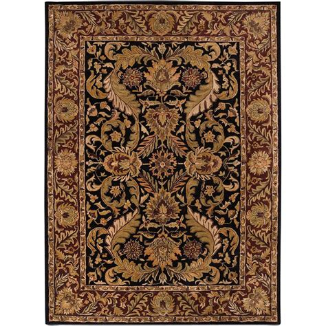 Throw Rugs Home Decorators Collection Constantine Black 9 Ft X 13 Ft