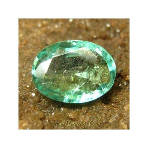 jual batu mulia zamrud oval cut hijau bersih 1 41 carat
