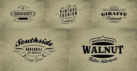 vintage sign templates free 15 free vintage logo template collections