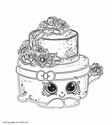 shopkins cake coloring pages coloring pages shopkins wonda wedding cake