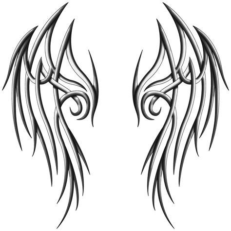 tribal angel tattoo designs wings design clipart best