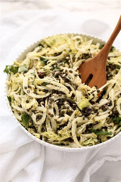 Lentil Detox Salad by Lentil Fennel Cabbage Detox Salad