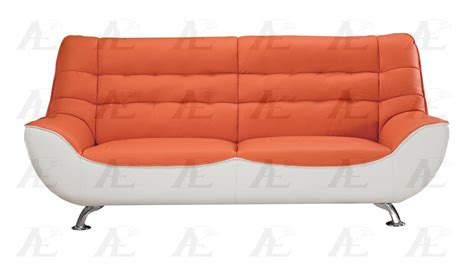 orange leather loveseat american eagle ae612 org w orange white sofa and loveseat
