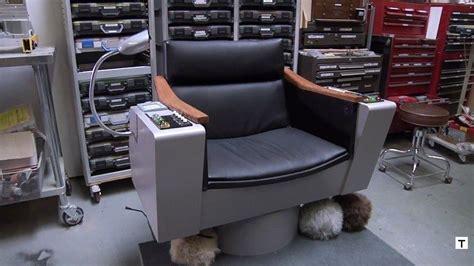 captain kirks hair adam savage builds perfect replica of captain kirk s chair