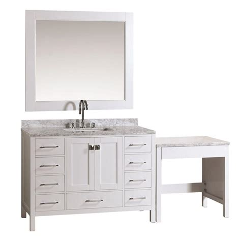 design element london 30 in w x 22 in d makeup vanity in design element london 48 in w x 22 in d vanity in white