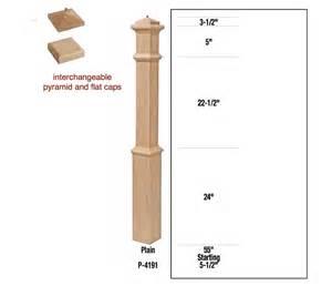 4191 wood stair box newel post railing system oak poplar
