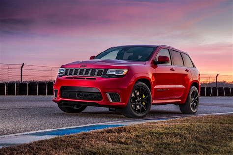 first jeep grand cherokee 2018 jeep grand cherokee trackhawk first look hell