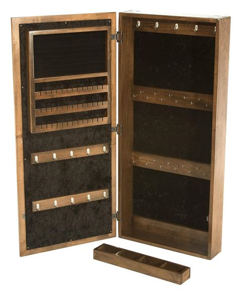 Wall Mirror Jewelry Cabinet by Amish Hardwood Wall Mount Jewelry Mirror Cabinet