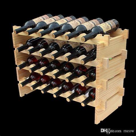 Wine Storage Racks Inexpensive by Wooden Wine Rack Diy Assemble Wine Shelf Wood Holders
