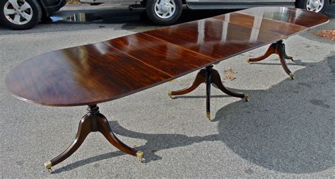 Narrow Width Dining Table by Solid Mahogany Regency Dining Table Of Narrow Width At 1stdibs