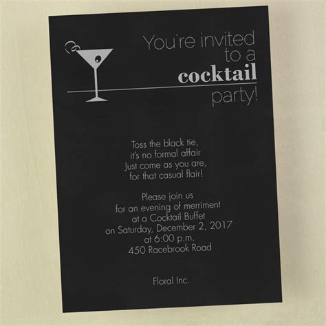cocktail invitation card your invited to a cocktail invitation