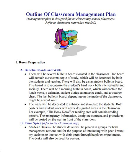sle plan templates classroom management plan template 28 images 10