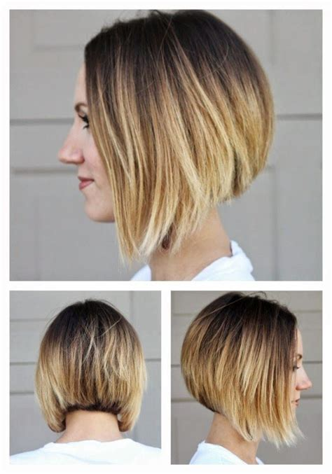 umbre angled bob hair cuts short angled ombre bob from all sides love and sayings