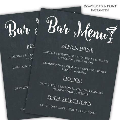 top 25 best bar menu ideas on pinterest