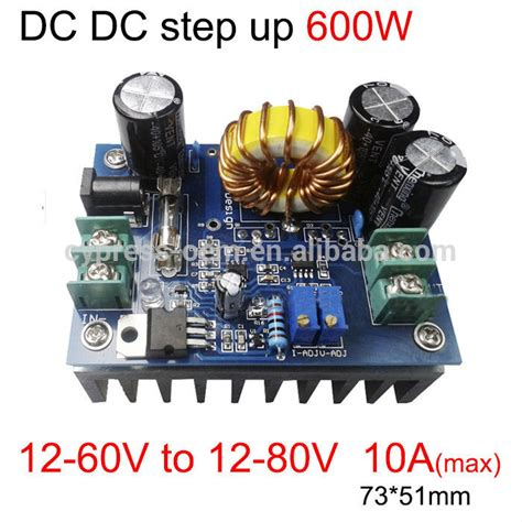Power Supply 12v 10a Box dc dc step up converter high power 600w module 12v 60v to