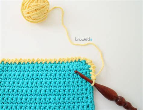 reverse single crochet b hooked crochet