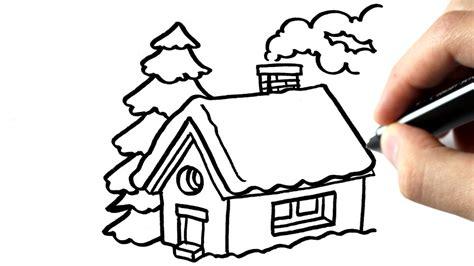 comment dessiner une maison en hiver tutoriel