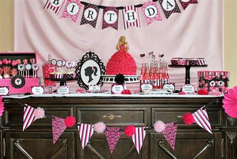 barbie themed birthday party barbie inspired birthday party celebrations at home
