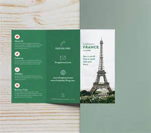 brochure template ideas green photo centric trifold travel brochure idea