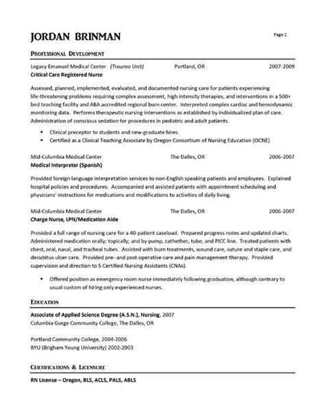 er resume exle resume exles registered