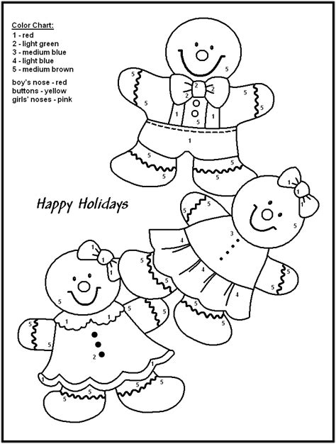free holiday color by number coloring pages christmas color by numbers to download and print for free
