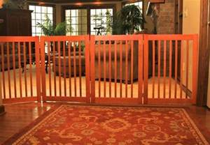 interior gates home dog gate wood freestanding indoor barrier large dog 27 quot or 32 quot tall big fence