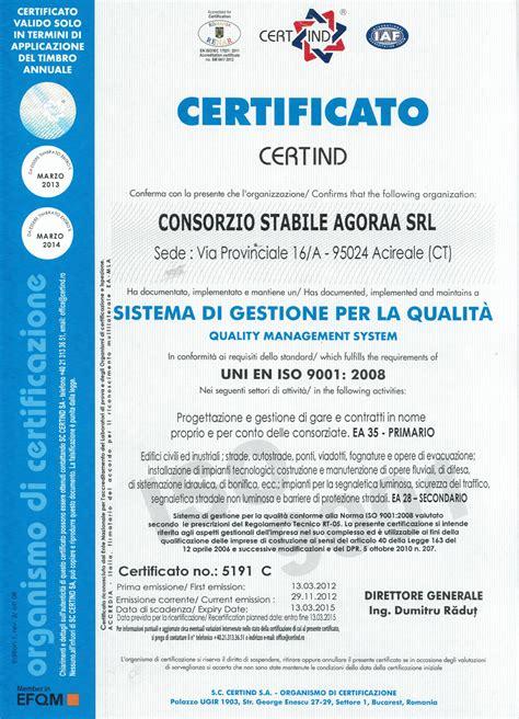 avvalimento interno certificazioni e attestato consorzio stabile agoraa