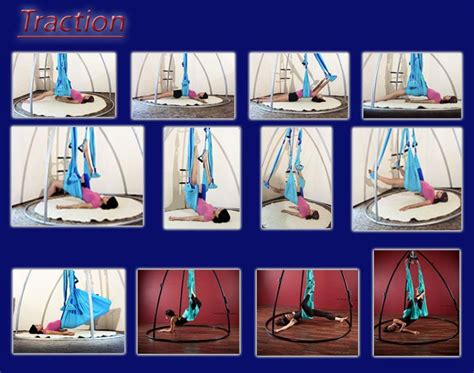 yoga swing exercises traction poses aerial yoga pinterest