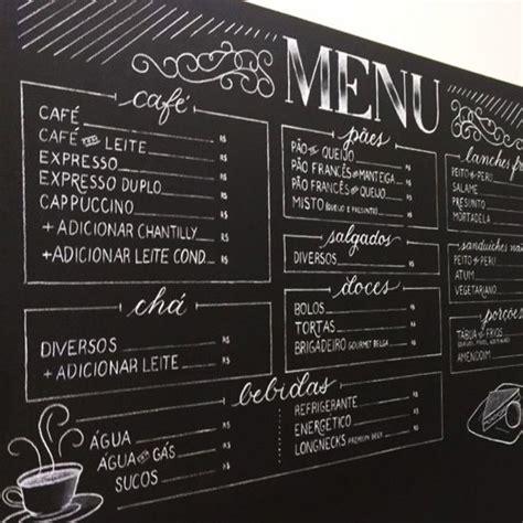 menu design lettering menu em giz chalkboard pinterest parede lousa lousa