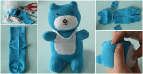 how to make sock teddy bear how to instructions
