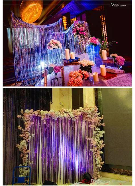 Plastic Tinsel Foil Fringe Curtains Door Window Curtain