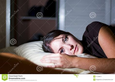 laid down in bed woman rests in bed royalty free stock photography image 11728077