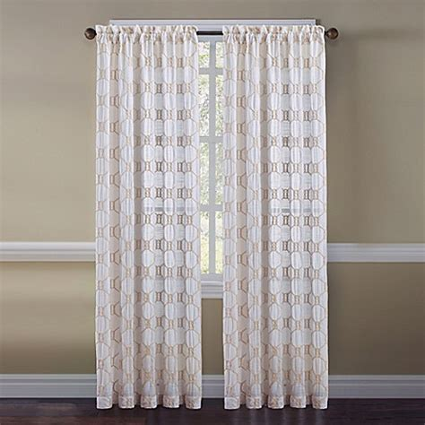 Cape Cod Curtains Cape Cod Rope Knot Embroidered Window Curtain Panel And Valance Bed Bath Beyond