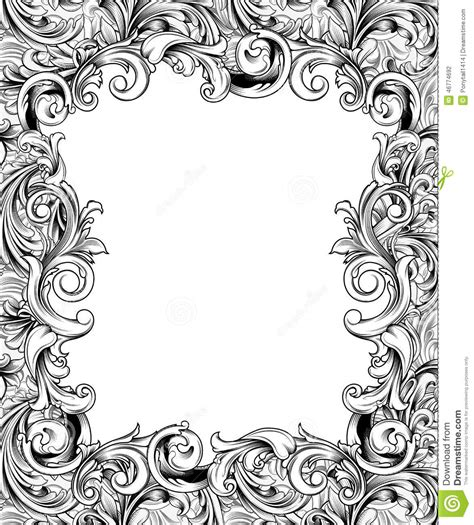 baroque pattern frame 16 flourish vector border baroque images baroque