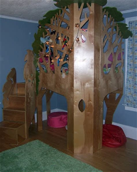 Monpon Birthday Bed Lofted Tree House Tree House Bunk Bed Plans