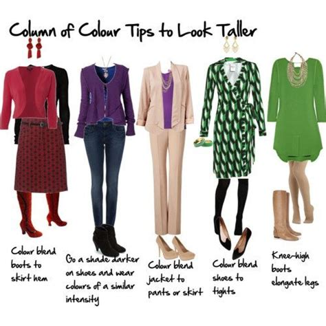 wardrobe tips how to look taller using a column of colour inside out style